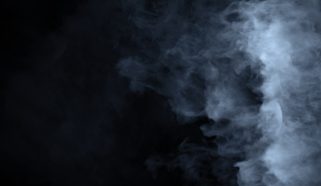 Photo pour Abstract blue smoke misty fog on isolated black background. Texture overlays. Design element. - image libre de droit