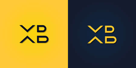 Minimalist Abstract Initial letter XB logo. This logo incorporate with abstract letter in the creative way.It will be suitable for which company or brand name start those initial.
