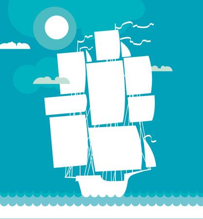 Photo pour ship decorative vector illustration - image libre de droit