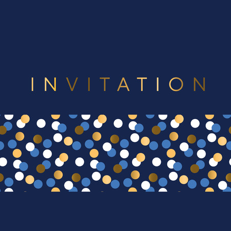 Ilustración de Luxury Marine geometric pattern for invitation. Geometry stock vector illustration. Gold and sea blue colors design element for elegant festive projects and awards. - Imagen libre de derechos