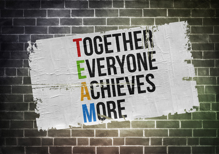 Foto de Together Everyone Achieves More - poster concept - Imagen libre de derechos