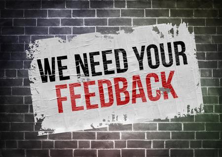 Foto de we need your feedback - poster concept - Imagen libre de derechos