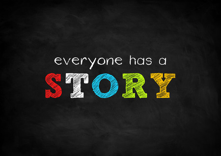 Foto de everyone has a story - Imagen libre de derechos