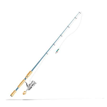 Illustration for fishing rod - Royalty Free Image