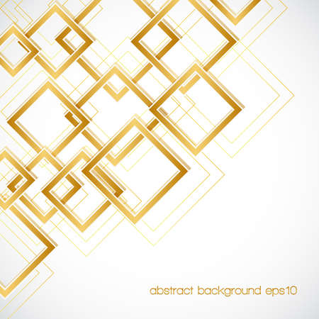 Illustration pour abstract background with golden rhombus frames and lines. - image libre de droit