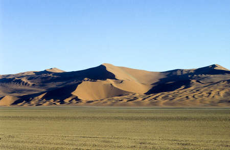 Photo for Panoramic view of red sand dunes in famous Namib Desert in Namibia - Royalty Free Image