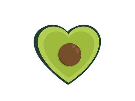 Ilustración de Avocado heart - Imagen libre de derechos