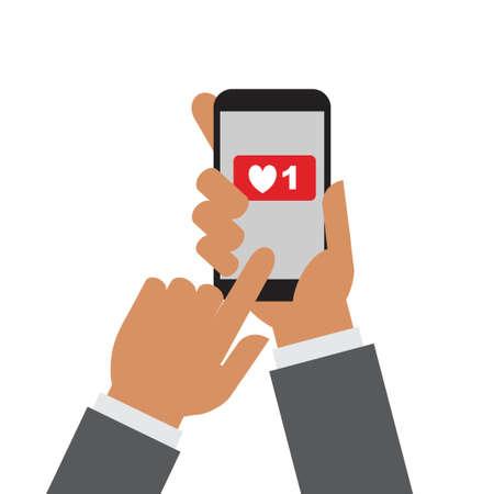Ilustración de Hand holding mobile phone - Imagen libre de derechos