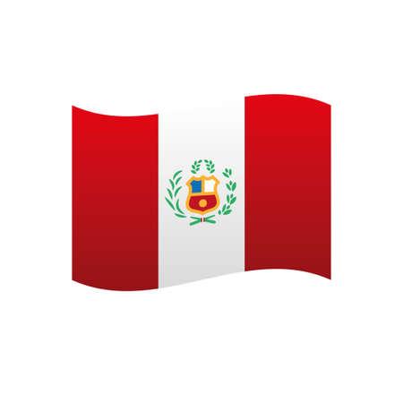 Illustration for Flag of Peru - Royalty Free Image