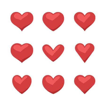 Ilustración de Set of heart icons, love symbol - Imagen libre de derechos