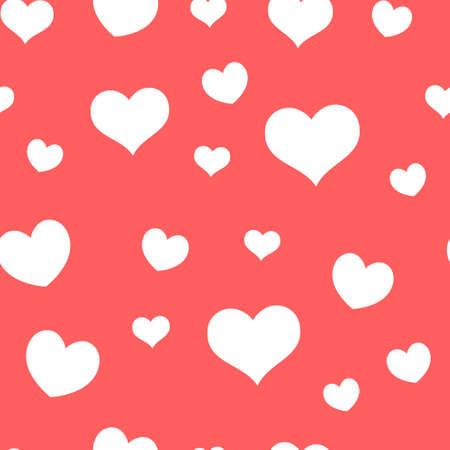 Ilustración de Seamless pattern of hearts. Universal print. Loopable love texture. Romantic background for designs. - Imagen libre de derechos