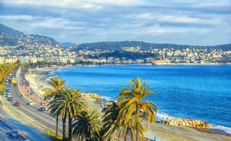 Photo for Aerial view of Nice, Cote dAzur - Royalty Free Image