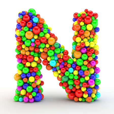 Photo for 3D rendered letter, made of colorfull shine candy balls - Royalty Free Image