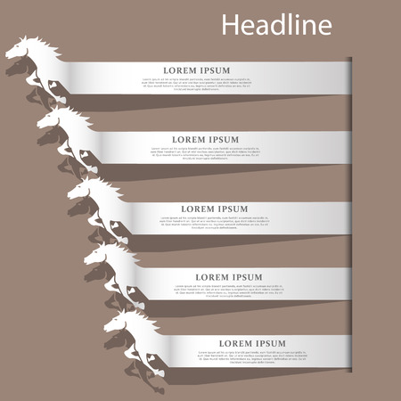 Ilustración de Silver color horse text racing on brown color background - Imagen libre de derechos