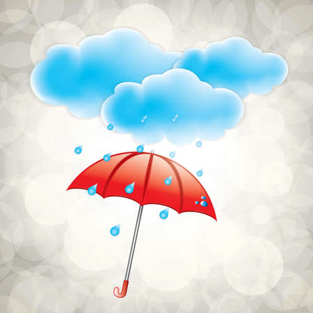 Illustration pour Rainy weather icon with clouds - image libre de droit