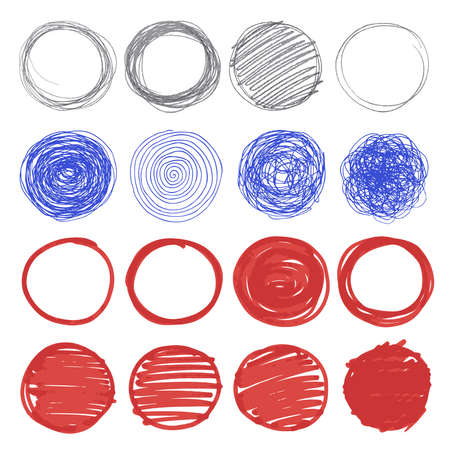 Illustrazione per Set of hand drawn circles. - Immagini Royalty Free