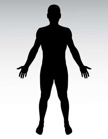 Photo for Human silhouette. - Royalty Free Image