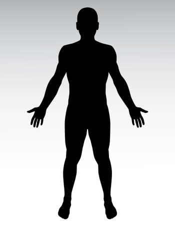 Photo pour Human silhouette. - image libre de droit