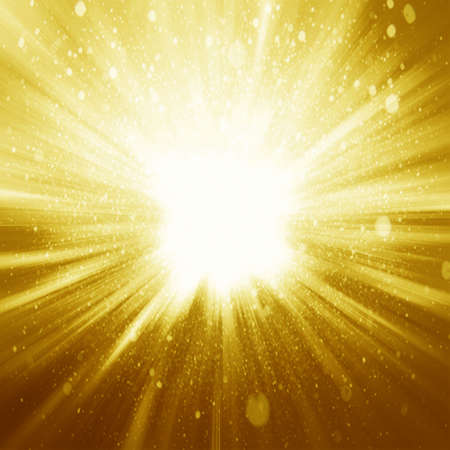 Photo for Golden sparkling background with intense glowing sparkles and glitter - Royalty Free Image