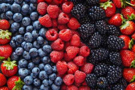 Photo for Healthy mixed berries fruit  - Royalty Free Image