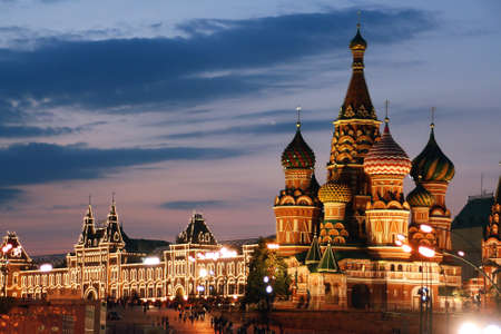 Photo pour Russia, Moscow, St. Basil Cathedral, Red Square - image libre de droit