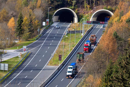 on the tauern motorway in austria there are many tunnels