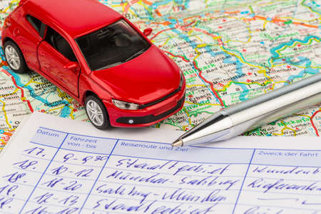 log book for a car for commuter tax and revenue office