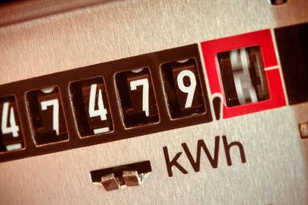 Foto de an electricity meter measures the current consumed. save symbolfoto for electricity price and electricity - Imagen libre de derechos
