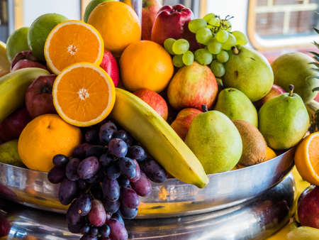 Photo for basket of fresh fruit and vegetables - Royalty Free Image