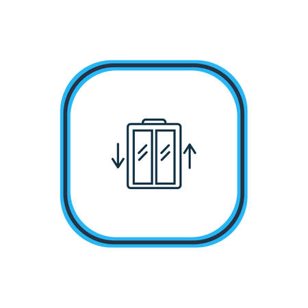 Ilustración de Vector illustration of elevator icon line. Beautiful hotel element also can be used as lift icon element. - Imagen libre de derechos