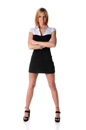 Beautiful businesswoman standing with arms crossed