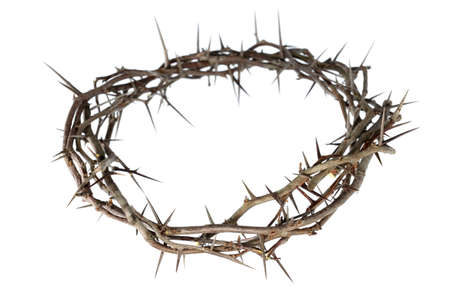 Photo pour Crown of thorns isolated over white background - image libre de droit