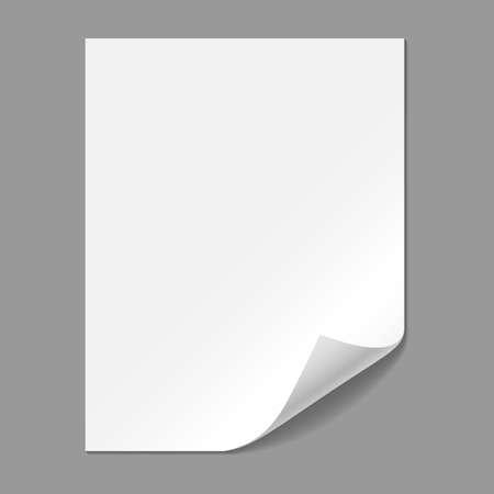 Illustration pour Single Paper Page with Folding Corner  - image libre de droit