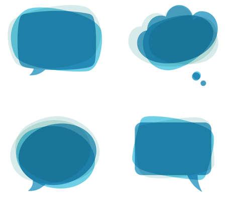 Illustration pour Blue Speech Bubbles - Set of colorful - image libre de droit