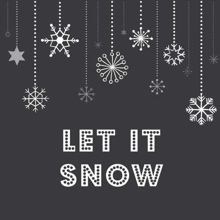 Illustration for Christmas Snowflakes Background - Chalkboard texture Christmas snowflakes background - Royalty Free Image