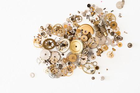 Foto de Detail of several clockworks dismantled - Imagen libre de derechos