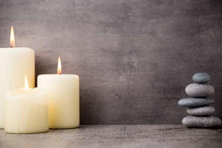 Photo pour Stones spa treatment scene, zen like concepts. - image libre de droit