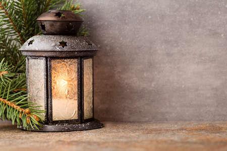 Foto de Lantern with christmas tree - Imagen libre de derechos