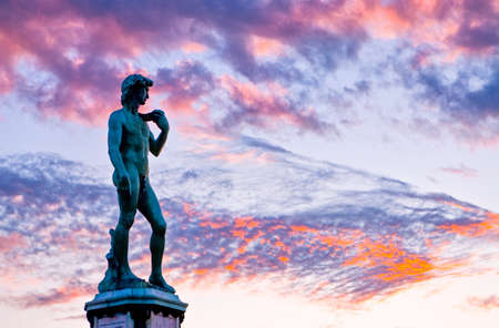 Photo pour Italy,Tuscany,Florence,the David monument in Michelangelo large square - image libre de droit