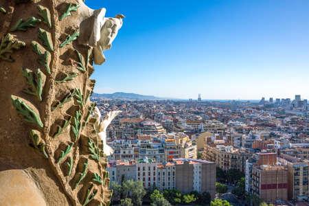 Foto de Spain, Barcelona, view on the city from the towers of La Sagrada Familia Cathedral - Imagen libre de derechos