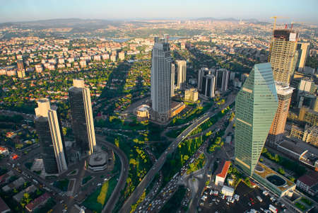 Photo pour Aerial panoramic view of Istanbul - image libre de droit