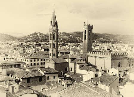 Photo pour Florence Cityscape sepia - image libre de droit