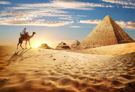 Foto de Sunset in desert - Imagen libre de derechos