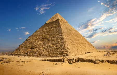 Photo for Landscape with pyramid - Royalty Free Image