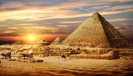 Photo for Pyramid in desert - Royalty Free Image