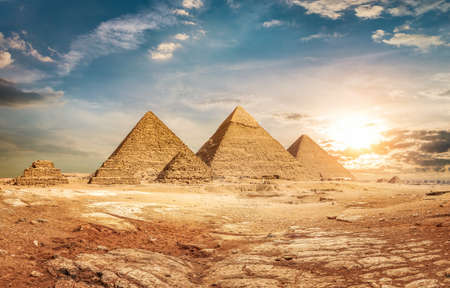 Photo for Pyramids and sky - Royalty Free Image