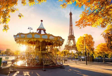 Foto de Carousel in autumn - Imagen libre de derechos