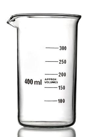 Measuring Beaker glassware isolated on White