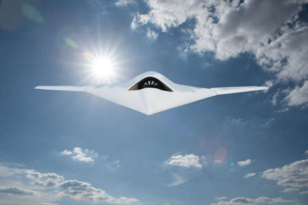Foto de UCAV(Unmanned Combat Air Vehicle) military drone - Imagen libre de derechos