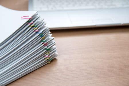 Foto de A pile of documents with copy space - Imagen libre de derechos